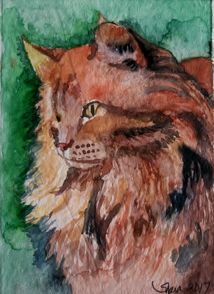 Ginger Cat And Kitten That Special Bond Print Of Watercolour
