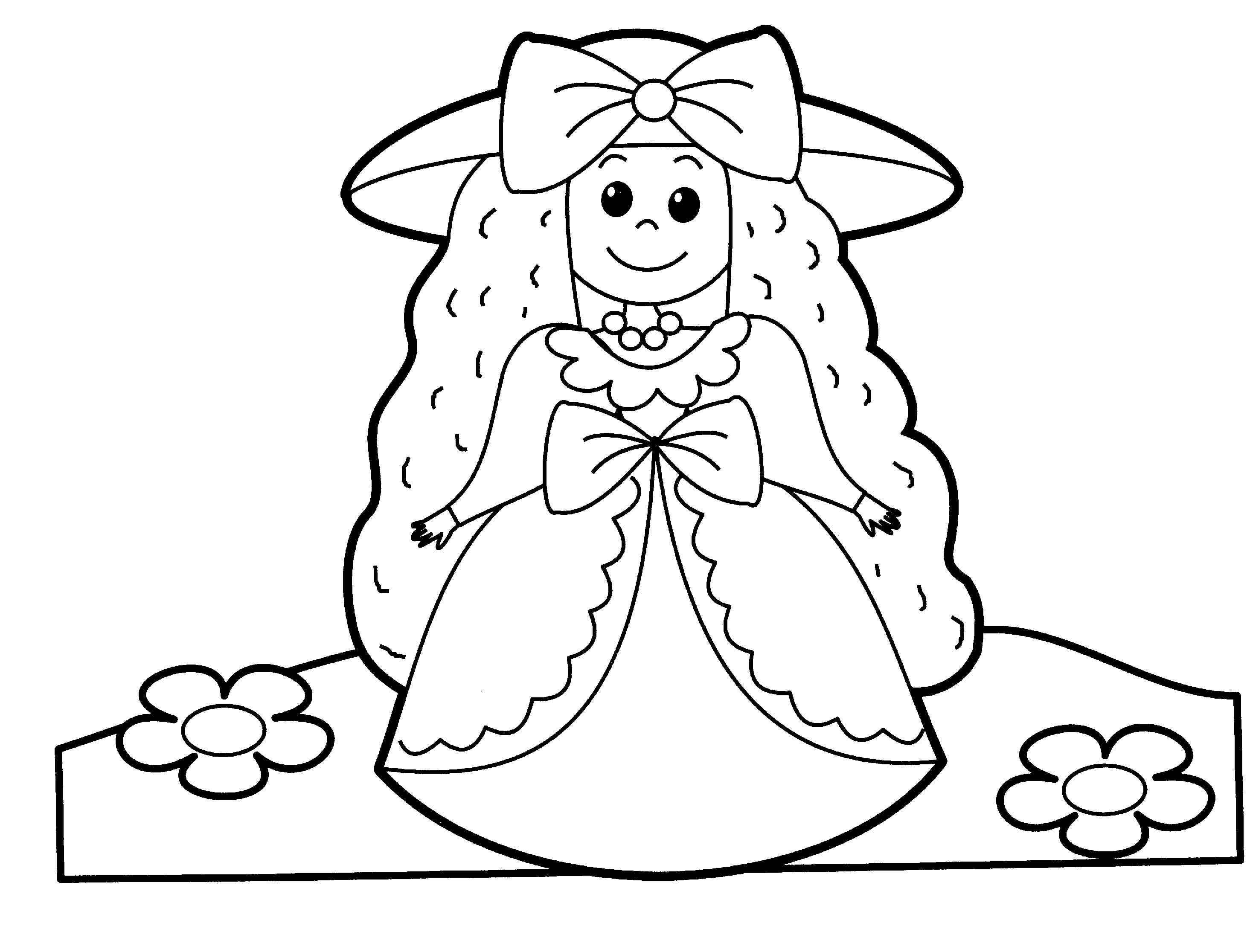 Printable Cute Doll Coloring Book For Me K5 Worksheets Princess Coloring Pages People Coloring Pages Coloring Pages