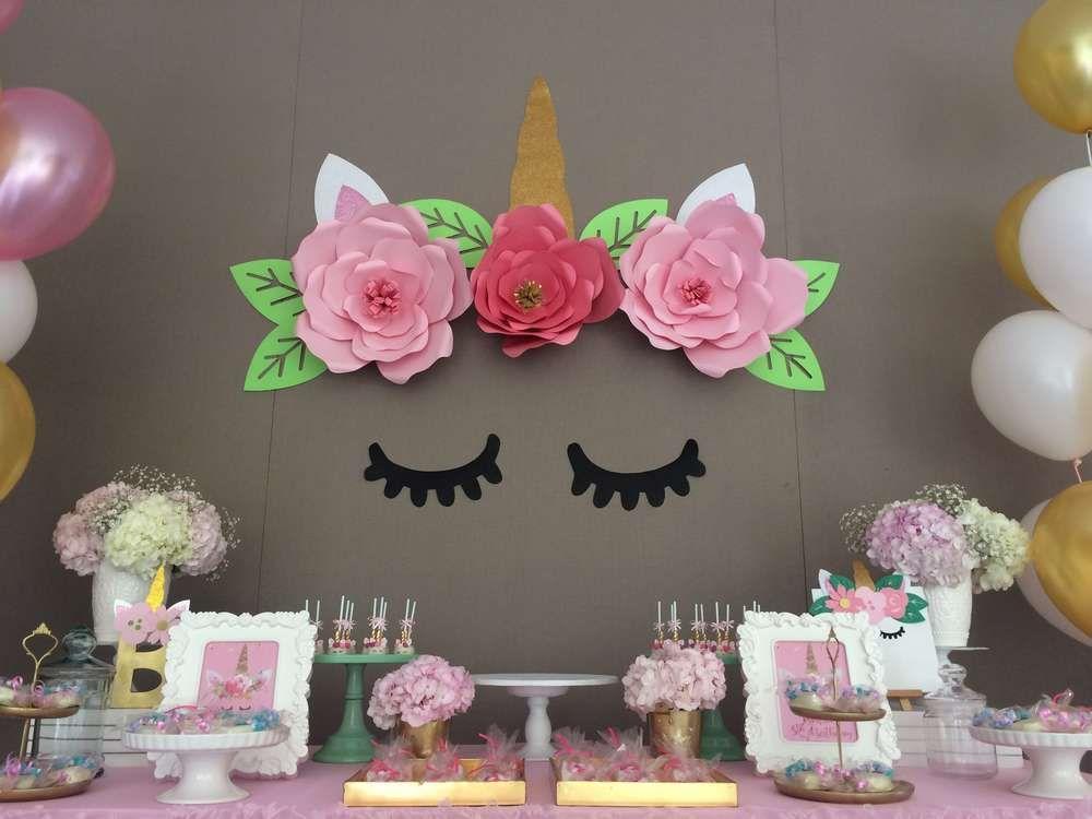 Unicorn birthday party ideas unicorns unicorn birthday for Decoracion infantil barata