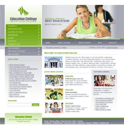 Education Website Template Research Website Pinterest Template - Education website templates
