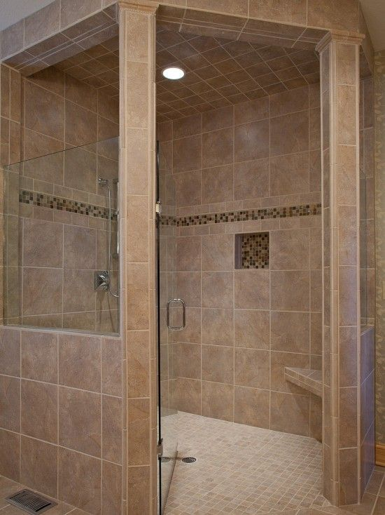 Handicap accessible curbless shower design pictures for Wheelchair accessible bathroom designs