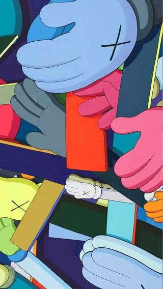 Kaws Painting Image By Cnga Chan On Everythinggg Kaws Wallpaper Art