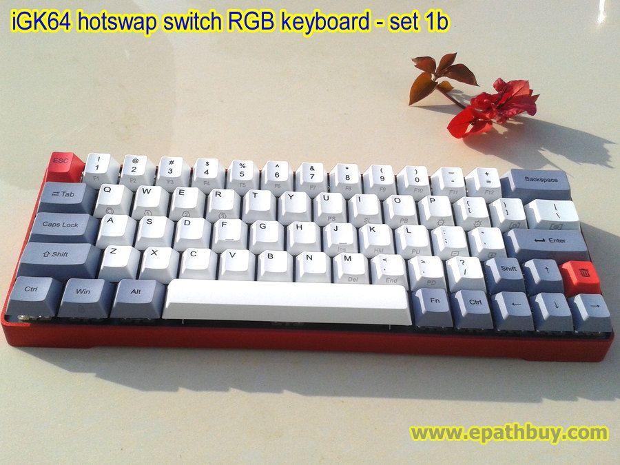 iGK 64: compact 65% keyboard (metal case, pbt keycaps, custom key