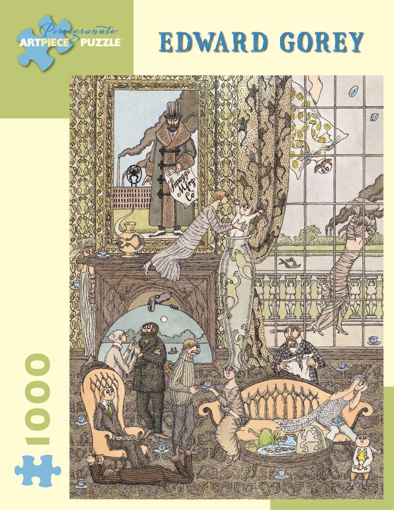 Edward Gorey Frawgge Mfrg. Co. 1000pc Jigsaw Puzzle by