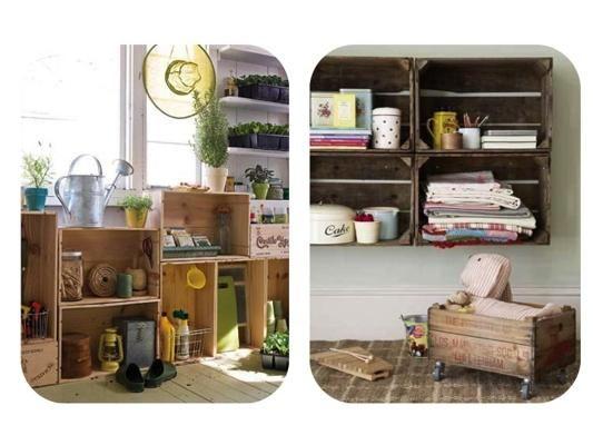 huacales muebles reciclados decoraci n de unas
