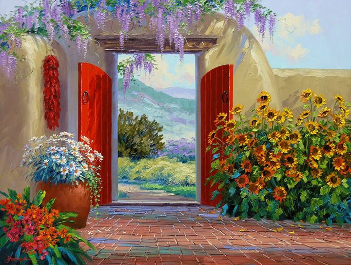 Beyond The Garden Gate Rainbow Art Garden Art Garden Gates
