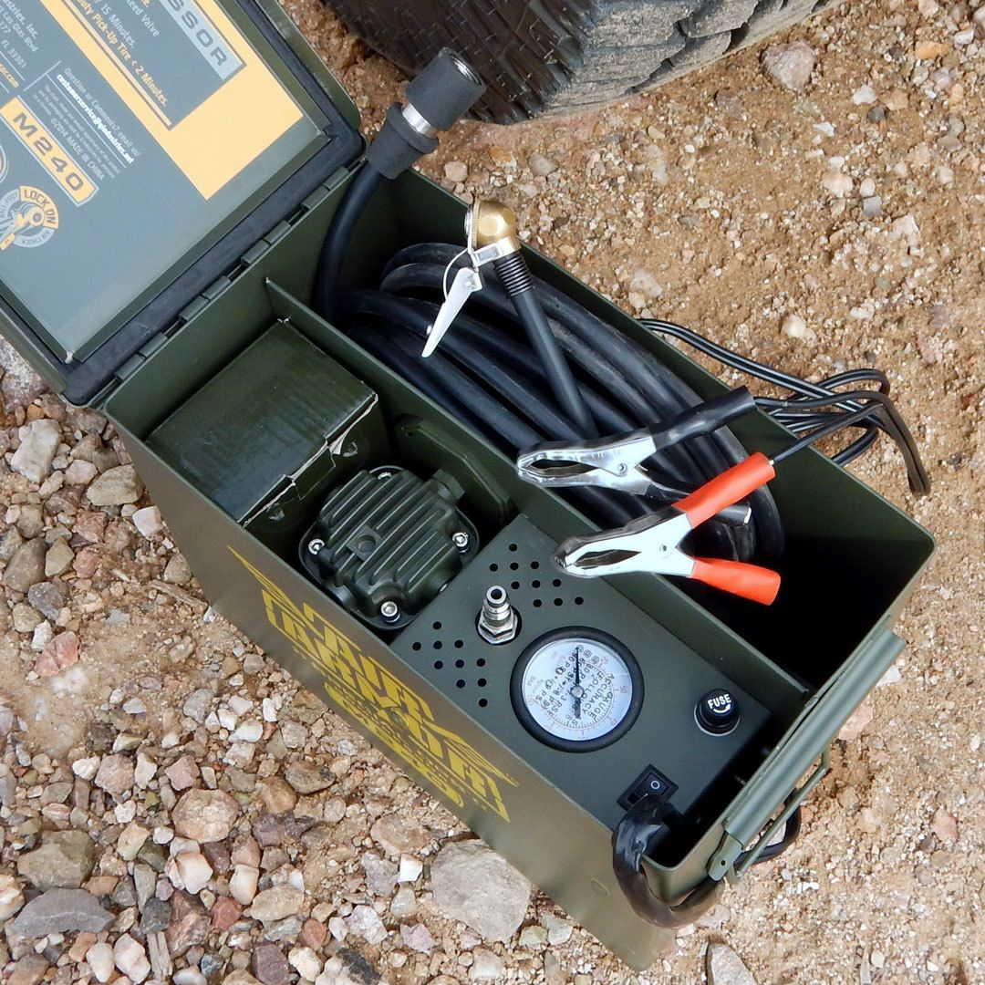 Tire Inflator Air Armor M240 Ammo cans, Jeep wrangler tj