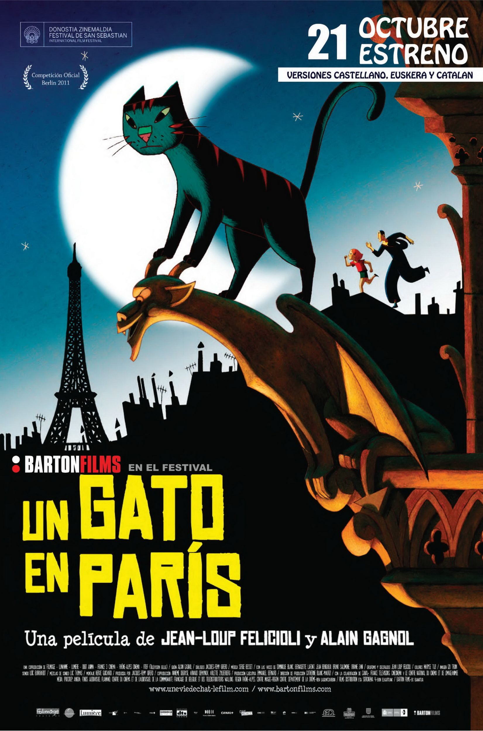 Un gato en París - Une vie de chat