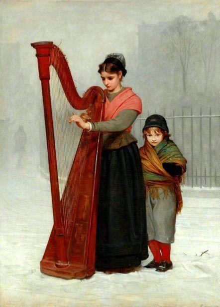 The Orphans    Philip Hermogenes Calderon (1833 – 1898, English)