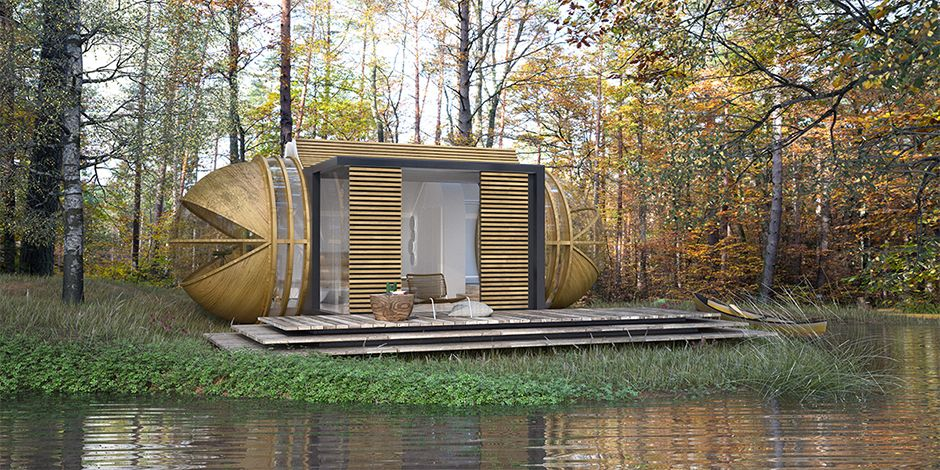 drop xl cabin architecture modulable et durable. Black Bedroom Furniture Sets. Home Design Ideas
