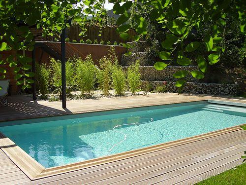 Piscine avec terrasse bois - Hydro Sud Montélimar (26) patio
