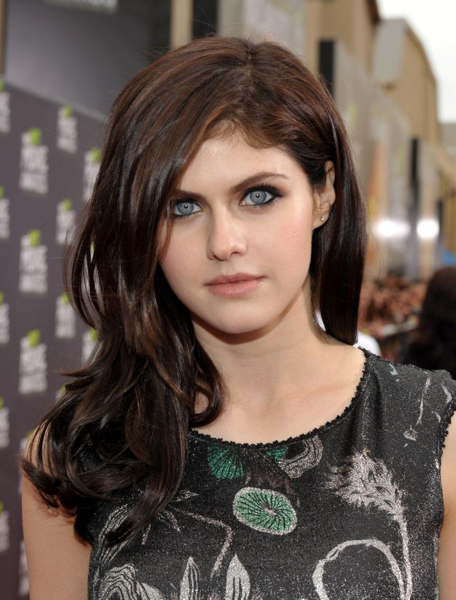 Latvian Canadian Actress Ksenia Solo Dark Hair Blue Eyes Dark Hair Hair Pale Skin