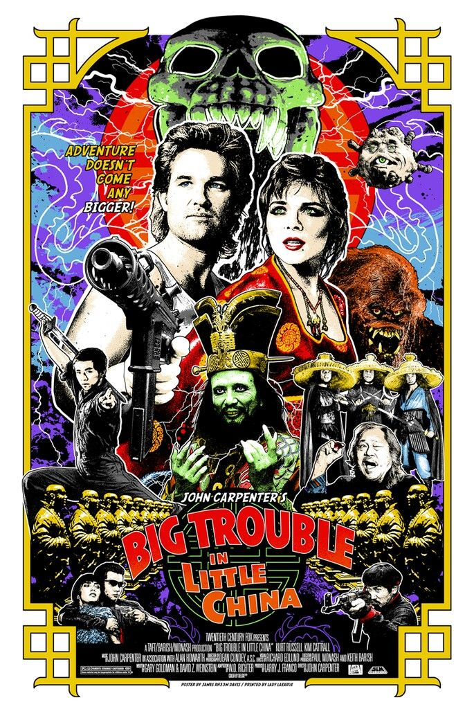 Big Trouble In Little China 1986 With Images Best Movie Posters Alternative Movie Posters Movie Art