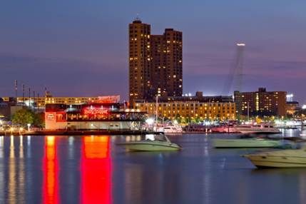Gorgeous harbor view from the Royal Sonesta Harbor Court Baltimore