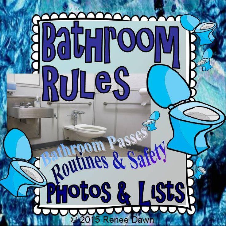School Bathroom Rules bathroom rules   bathroom rules, bathroom pass and classroom