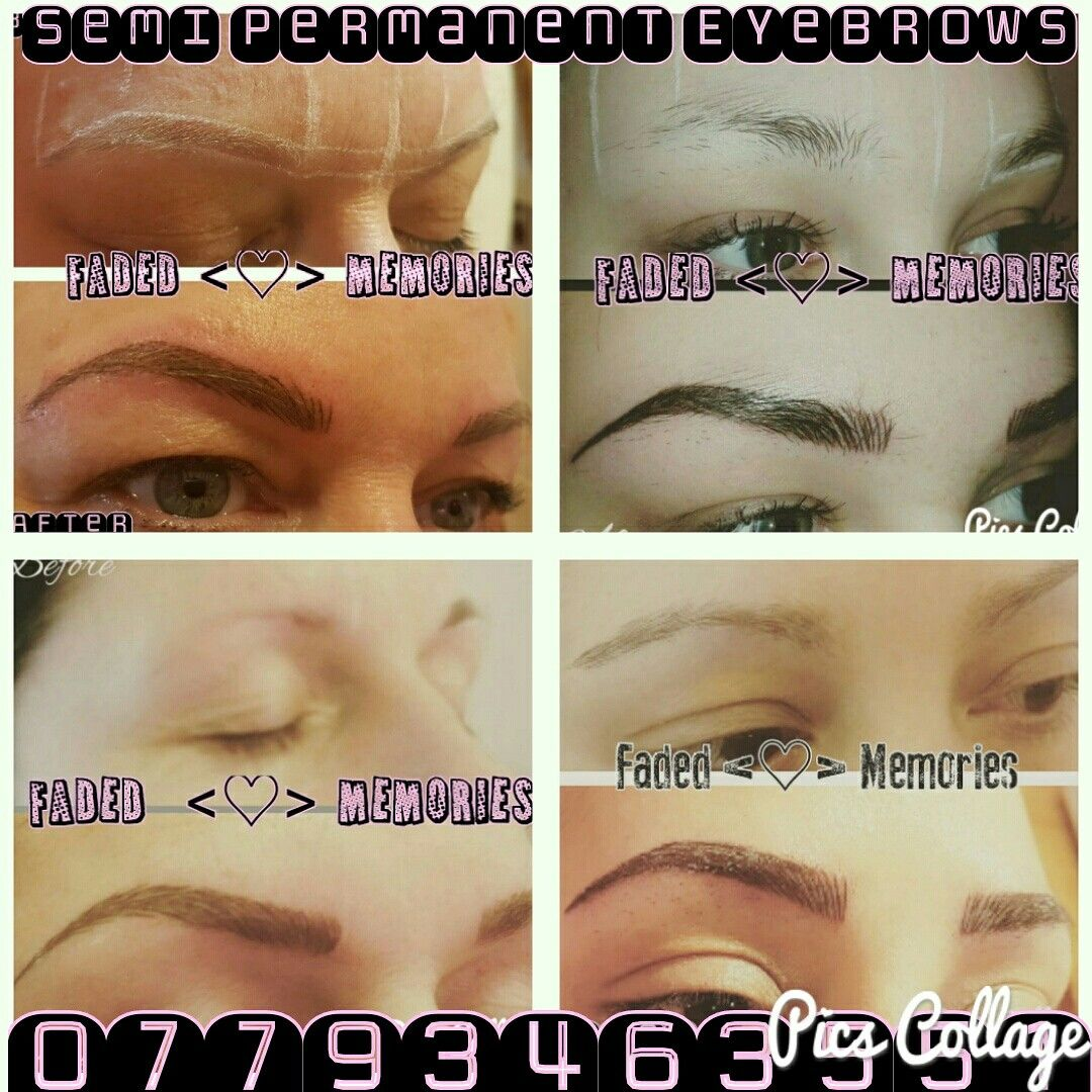 Before And After Semi Permanent Eyebrows Faded Memories Hair