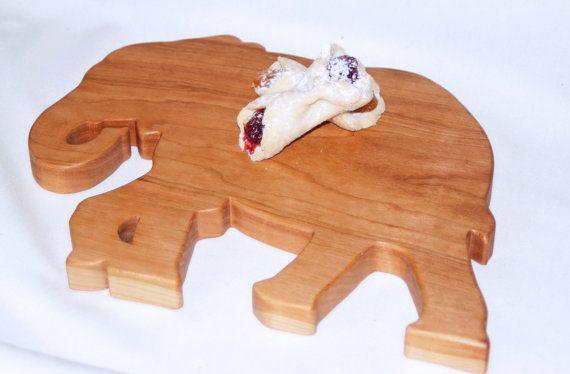 Elephant Cutting Board Cherry Serving Tray by jobemacstudios
