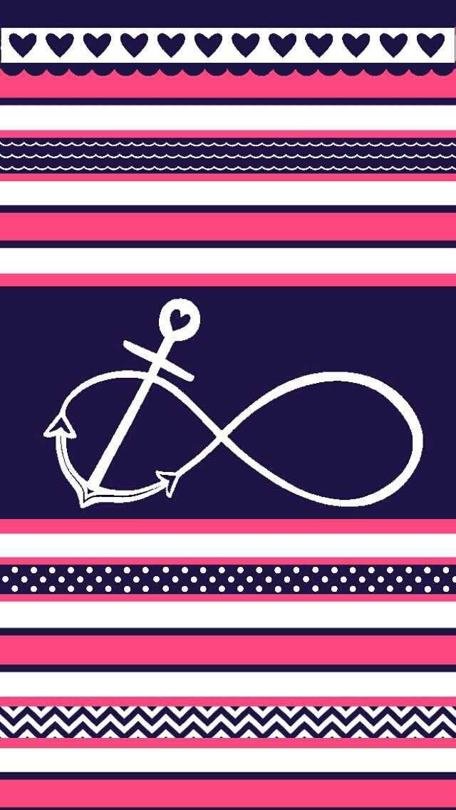 Stripes Anchor Girly Galaxy S8 Wallpaper Anchor Wallpaper S8 Wallpaper