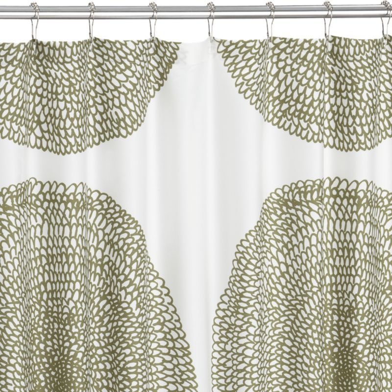 Something Graphic And Somewhat Neutral Marimekko Pippurikera Sage Shower Curtain In Curtains Rings