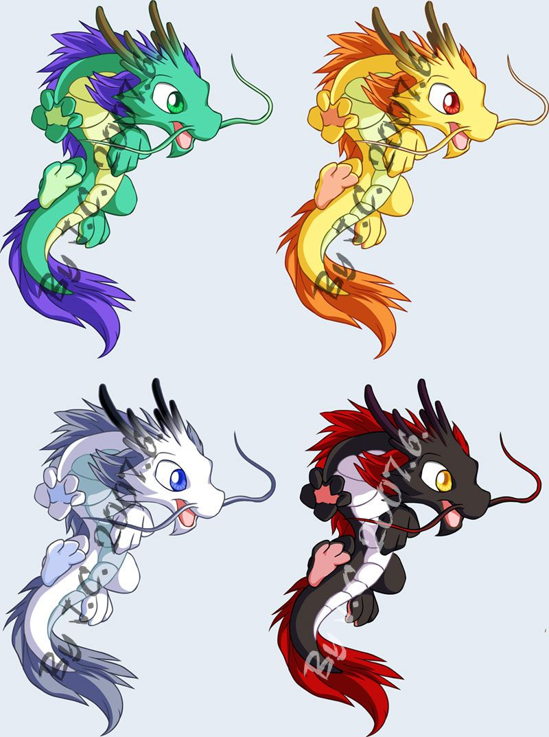 Baby Chinese Dragons Art Design Dragon Chinois Dessin