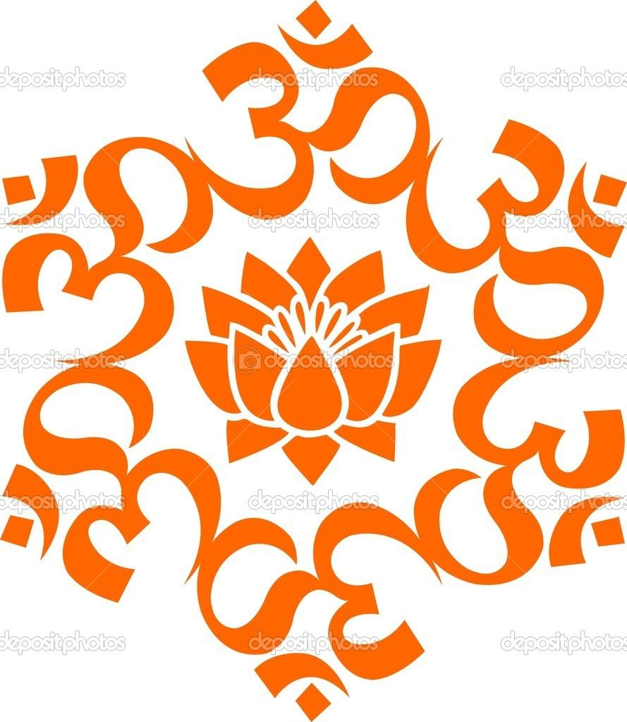 Orange lotus flower om mandala lotus flower tatts pinterest om aum lotus mandala buddhistisches symbol sticker easy installation 365 day money back guarantee browse other patterns from this collection buycottarizona Image collections