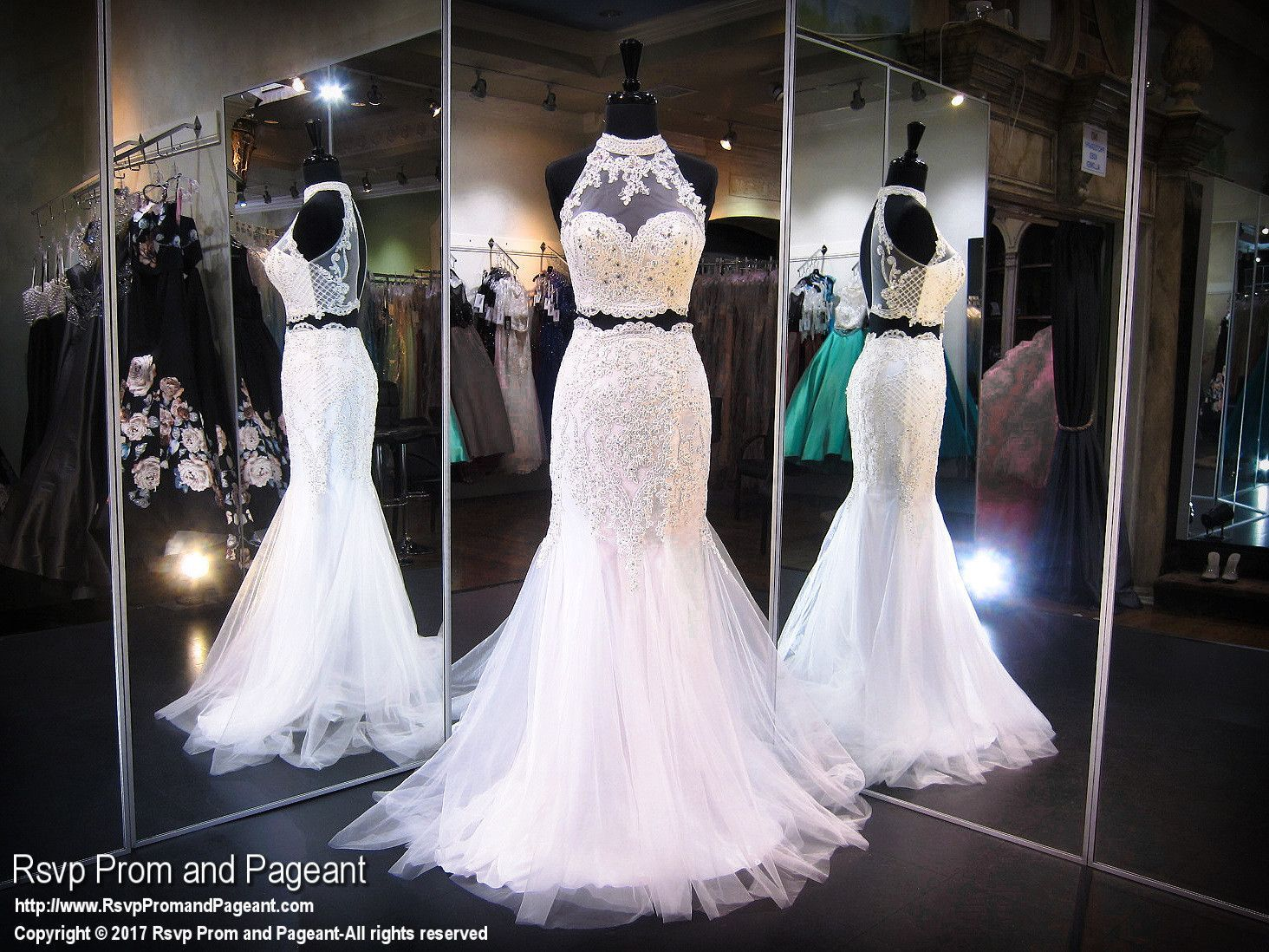 Ivory twopiece prom dress prom and pageant dresses pinterest
