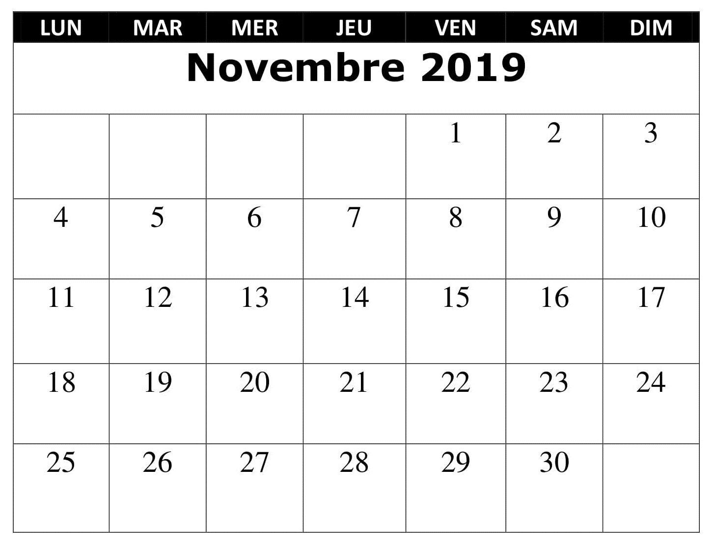Calendrier Mois De Novembre 2019.Calendrier 2019 Mois Novembre Words Periodic Table