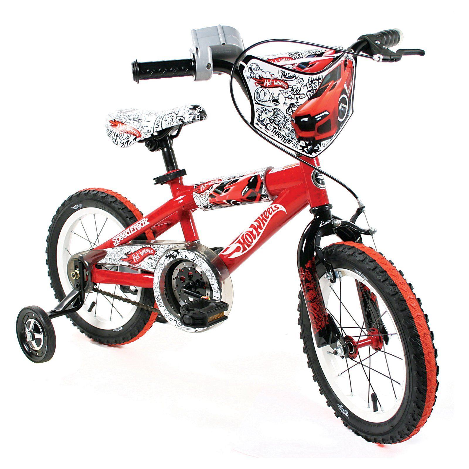 Hot Wheels Boy S 16 Inch Bike Black Red Orange From 4 5 6 And 7
