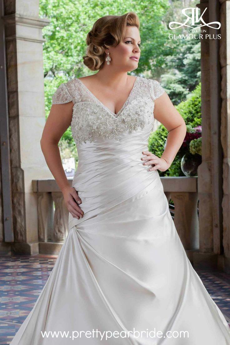 Plus size white wedding dresses  plus size bride  Rose Gold Wedding  Pinterest  Wedding dress