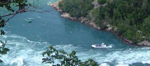 The mighty Niagara River. See it by boat or by a leisurely drive along the Niagara Parkway