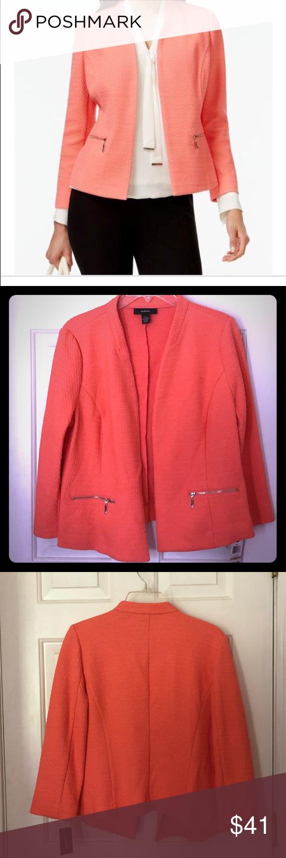 7766c95b4e30 ALFANI Georgia Peach - Textured Blazer Size 12 NEW ALFANI Georgia Peach  Blazer Size 12 NEW