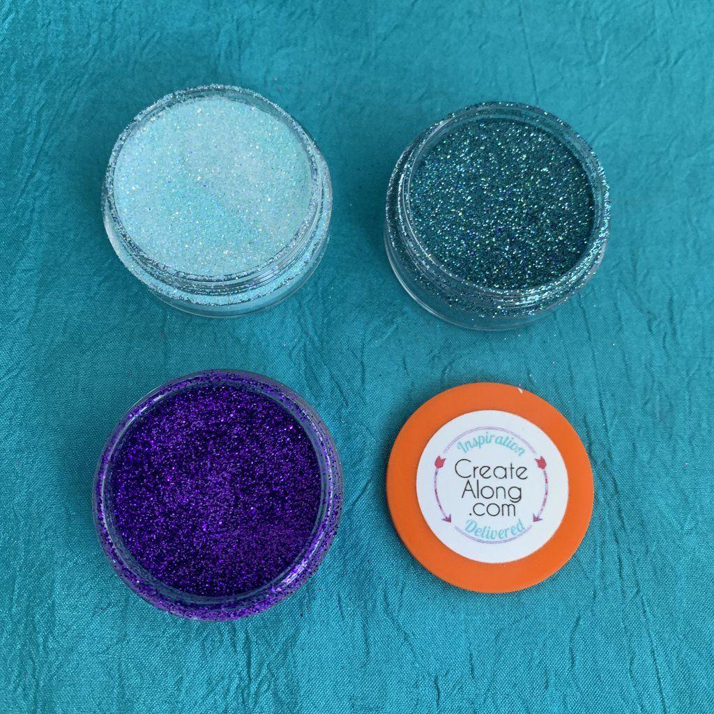 Colorfuze blue skies ahead set of 3 enamel powders for