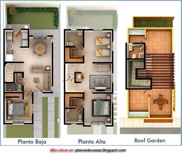 Plano 3d casa tres pisos proyectos a intentar for Planos para mi casa