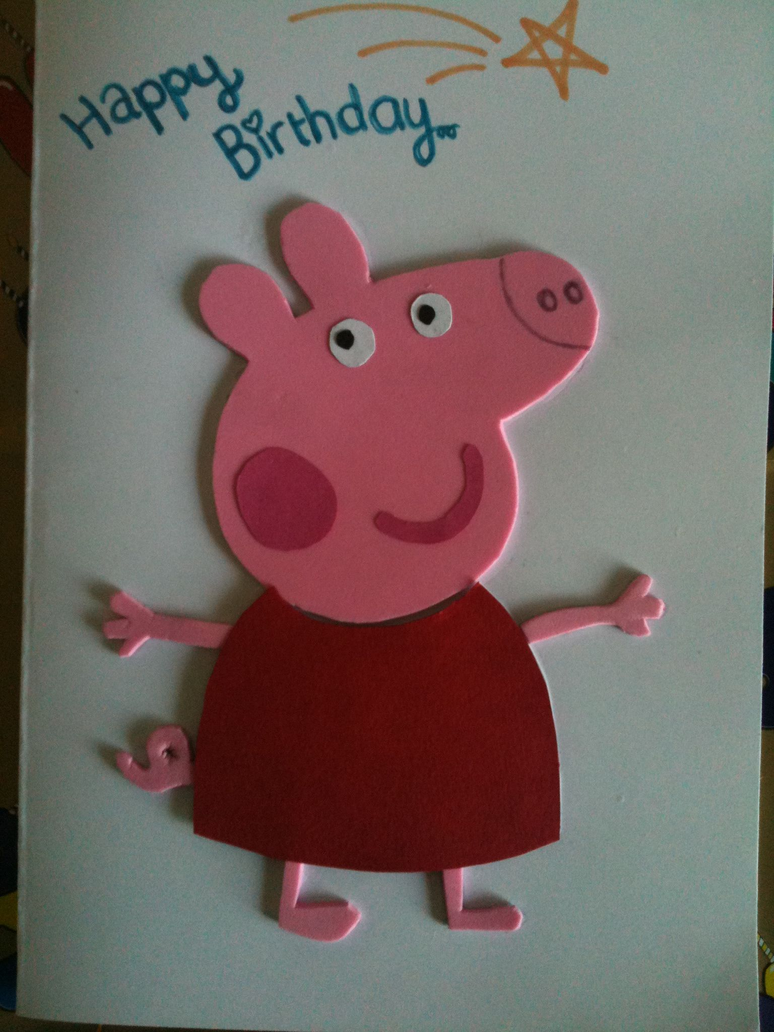Peppa Pig Birthday Card Old Birthday Cards Kids Birthday Cards Kids Cards