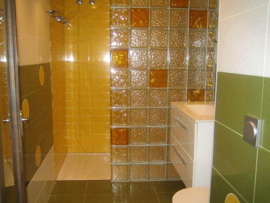 Cocina con bloques de vidrio buscar con google muebles pinterest bloques de vidrio - Bloques de vidrio para bano ...