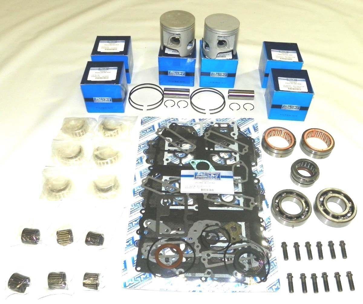 Johnson Evinrude 90 115 HP 60 Degree V4 Carb Powerhead Rebuild Kit Piston Gasket
