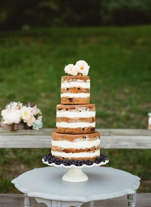 Naked Cake Love It Groovy Wedding Cakes Pinterest