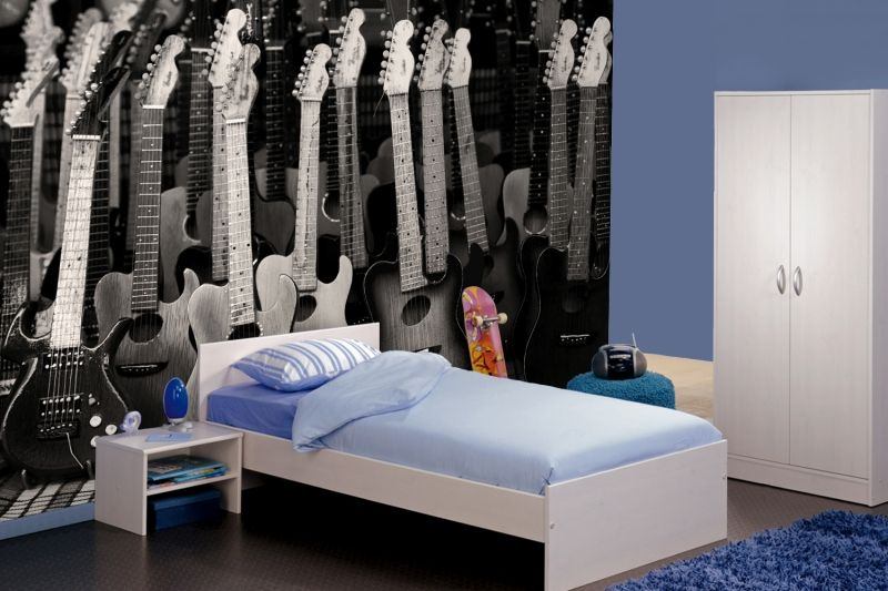Black And White Guitars Wall Mural