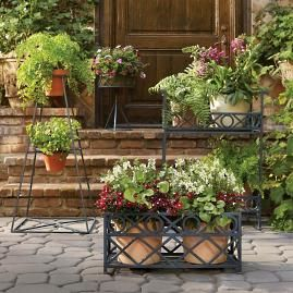 Blue And White Painted Planters Frontgate Garden Tags 400 x 300