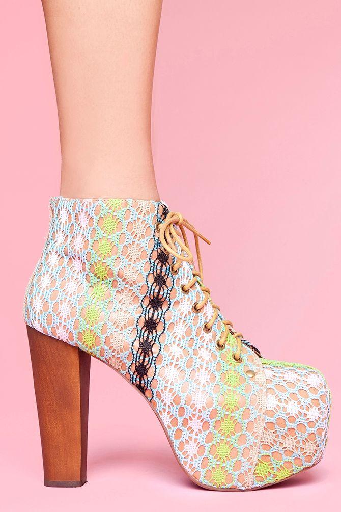 Lita Platform Boot - Pastel Crochet...Just Ordered!!
