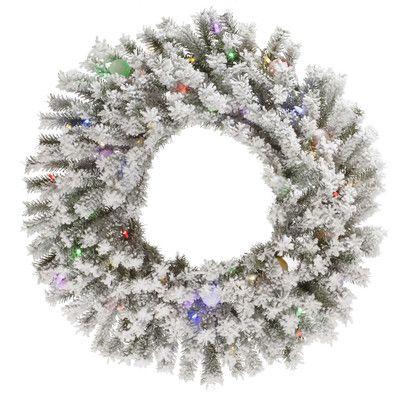 The Holiday Aisle Flocked London Wreath