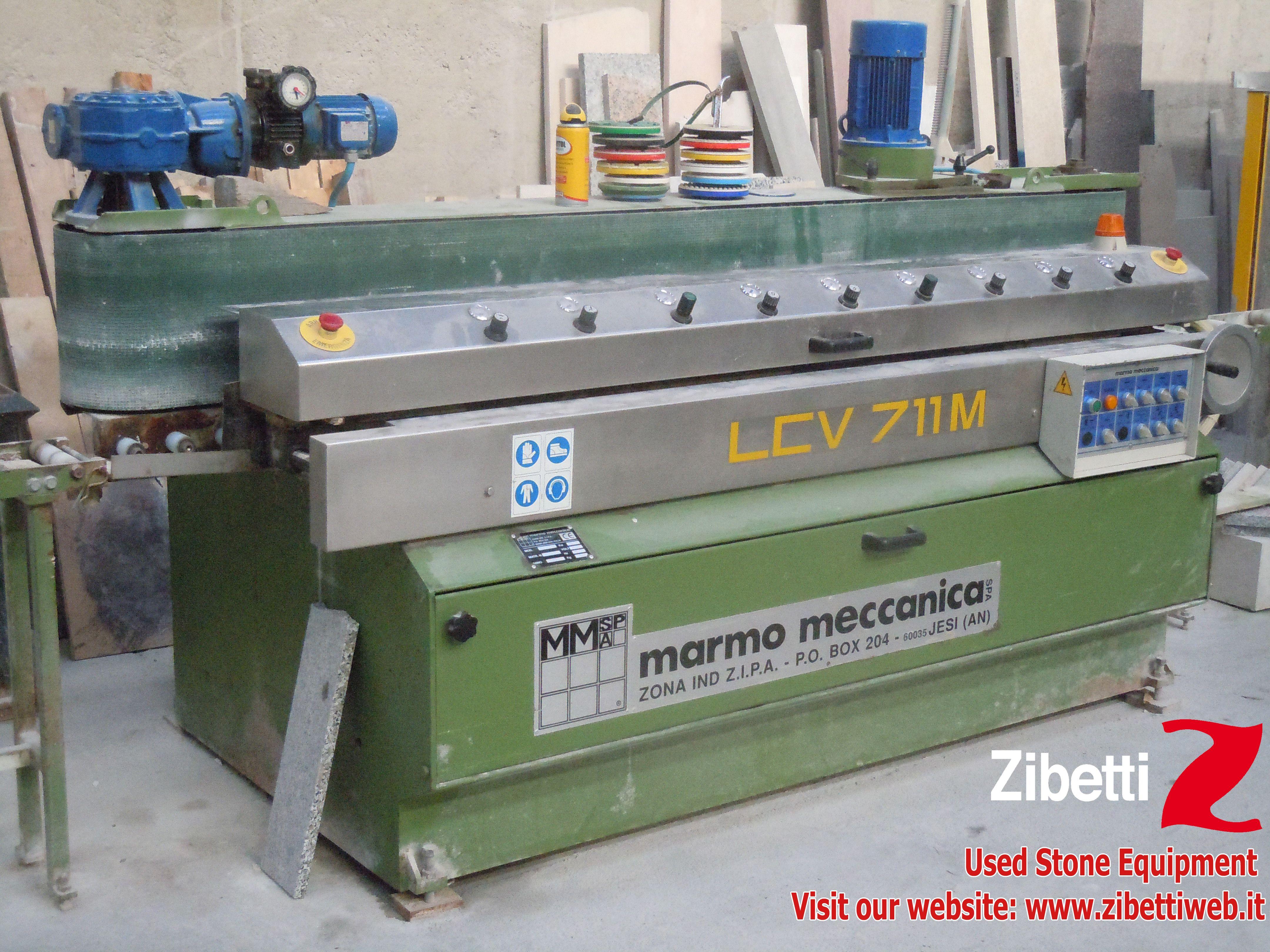 Zibetti Used Flat Edge Polishing Machine Marmo Meccanica
