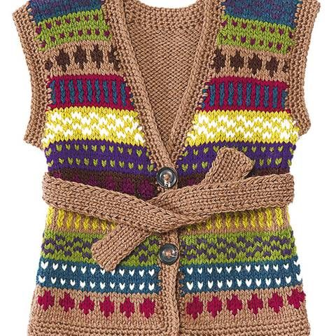 Strickmuster: Kinderweste mit Muster stricken - eine Anleitung
