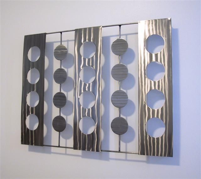 Image detail for contemporary metal wall art sculpture silver stainless atlanta