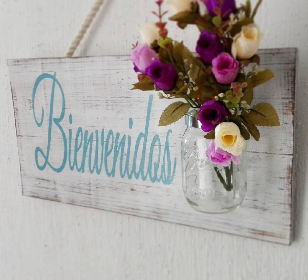 Letrero de bienvenida para la puerta de entrada de tu casa for Decoracion de la puerta de entrada
