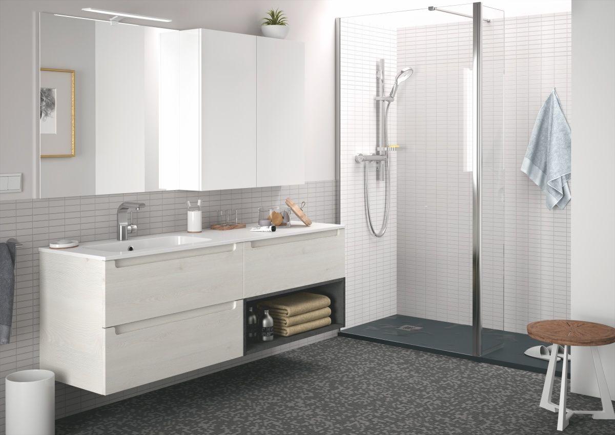 Badezimmer Holzmöbel ~ Badezimmer weiss woody  holz jetzt bestellen unter