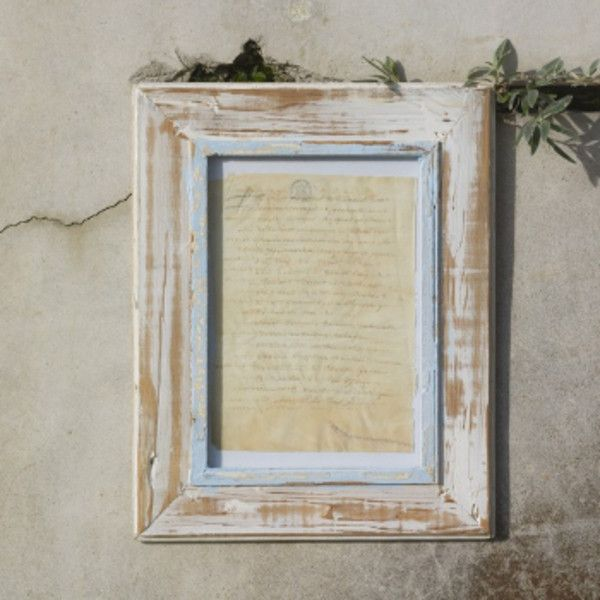 Themba Rustic Recycled Wood Picture Frame A4 ($36) ❤ liked on ...