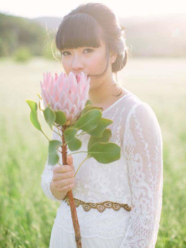 Idea To Steal {24}: Modern Wedding Bouquet | Weddings, Protea ...