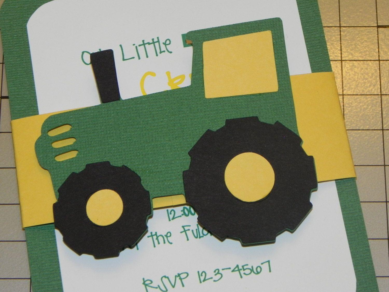 Tractor Birthday Invitations John Deere Birthday by JLMpartyshop – John Deere Tractor Birthday Invitations