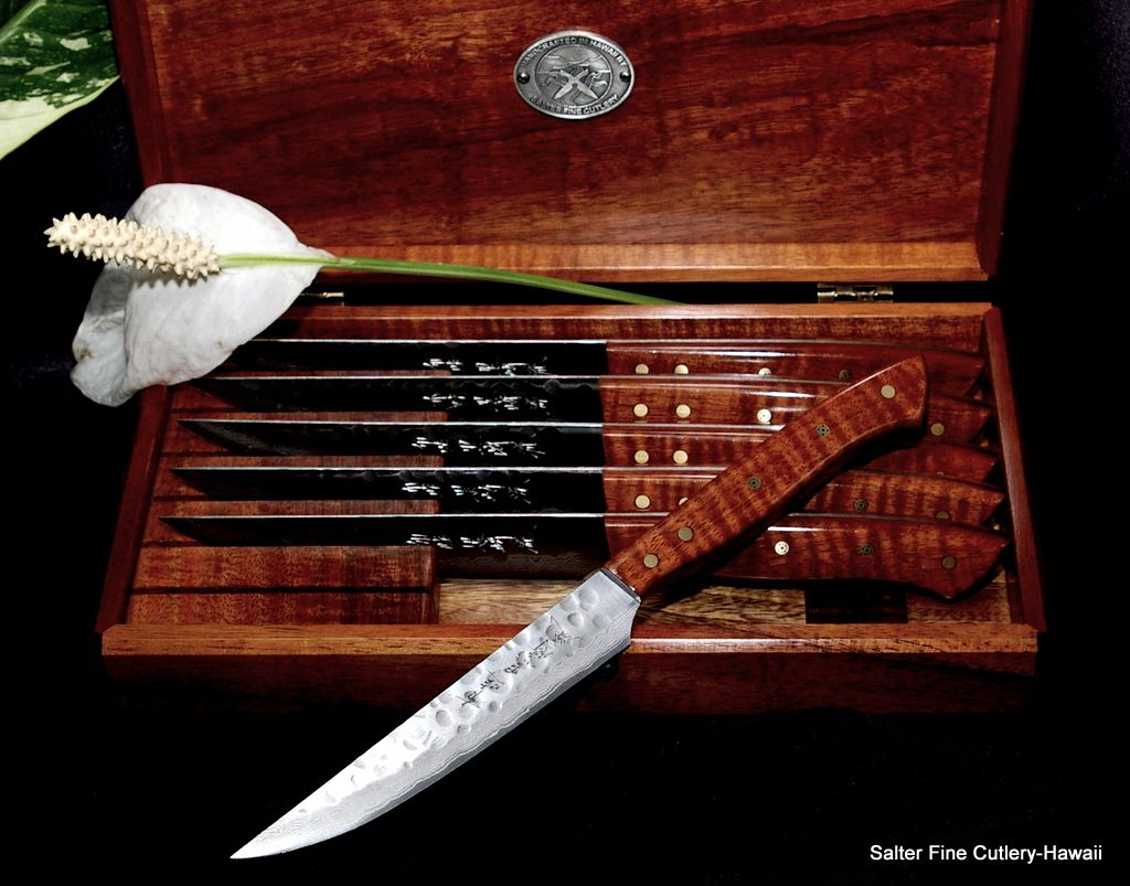 Hand Forged Steak Knife Set By Salter Fine Cutlery 6 Pc